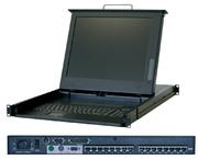 RackMaster 17 TFT+16-Port Cat5 KVM
