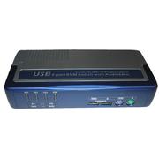 KVM-Switch 1:4,USB+PS/2,VGA, 4 KVM-Kabel