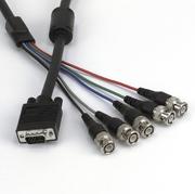 Monitorkabel RGB, DB15HD/m-5xBNC/m,2m
