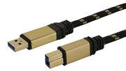 USB-Kabel 3.0 A/m-B/m, Premium, 1,8m