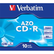 Verbatim CD-R 700MB 52x Crystal JC(10)