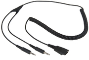 ARP Headset Kabel QD zu 2x 3.5 mm Klinke
