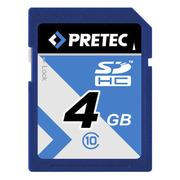 Pretec SDHC Card Class 10, 4 GB