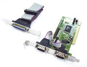 I/O-Karte 2x Seriell 1x Parallel PCI