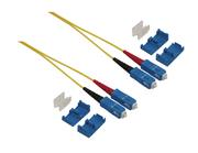 LWL-Kabel 09/125 µm dupl. SC/SC, 2 m