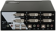 KVM-Switch 1:2 Dual DVI,USB,Aud +2 Kabel