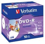 Verbatim DVD+R 4,7GB 16x Inkjet JC (10)