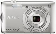 Nikon Coolpix A300 Digitalkamera silber