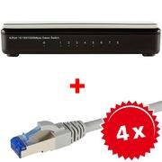 ARP 8-Port Gigabit Switch +4x RJ45 Kabel