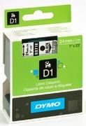 Dymo D1-Schriftband transp./schwarz 24mm