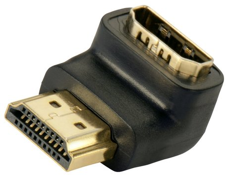 Image of Adapter 90°unten HDMI(A) Bu - HDMI(A) St