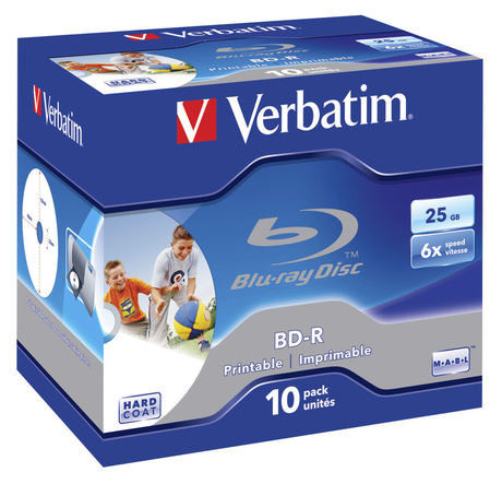 Image of Verbatim Blu-ray BD-R 25GB 6x JC(10)