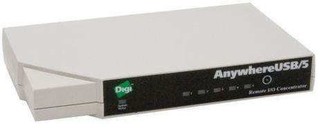 Image of Digi AnywhereUSB Eth. to 5 USB Port Hub