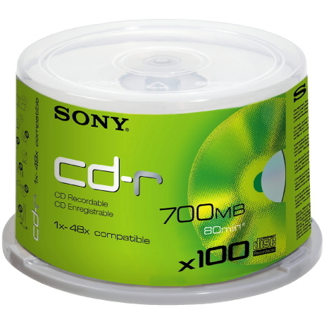 Image of Sony CD-R80 48x, 100er Spindel-Box