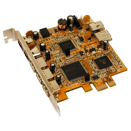 Image of I/O-Karte 2x FireWire/3x USB 2.0, PCI-E