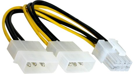 Image of Stromadapter 2x4pinSt - 1x8pinSt 0,15m