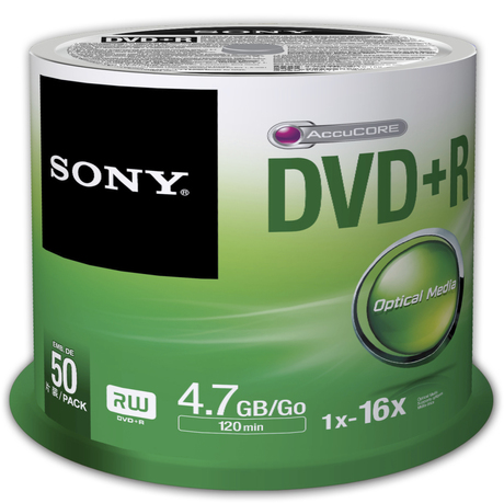 Image of Sony DVD+R 4,7GB 16x SP(50)