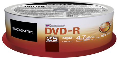 Image of Sony DVD-R 4,7GB 16x SP(25)