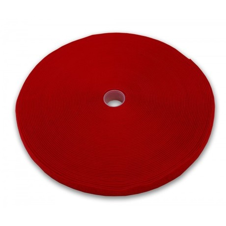 Image of Kabelbinder Klett Rolle 25 m x 10 mm Rot