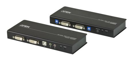 Image of ATEN CE604, Dual DVI KVM Extender, 60 m