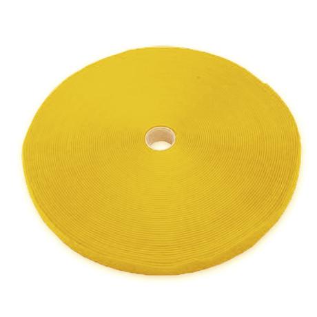 Image of Kabelbinder Klett Rolle 25 m x 10mm Gelb