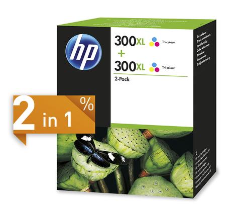 Image of HP 300XL Tinte dreifarbig 2-Pack