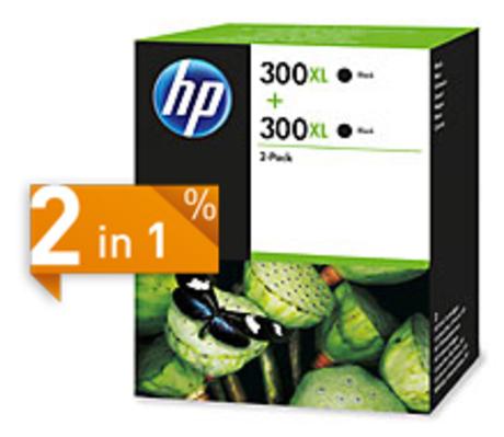 Image of HP 300XL Tinte schwarz 2-Pack