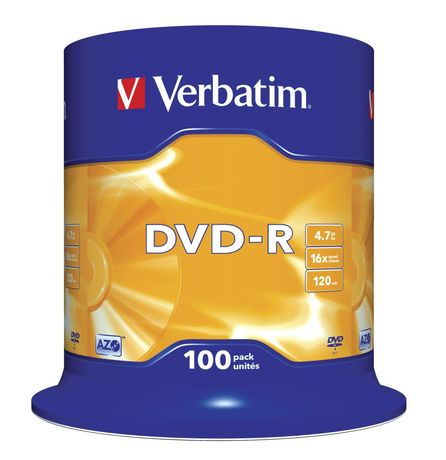 Image of Verbatim DVD-R 4,7 GB 16x SP (100)