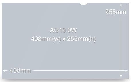 """3M AG19.0W 48 cm (19"""") Blendschutz"""