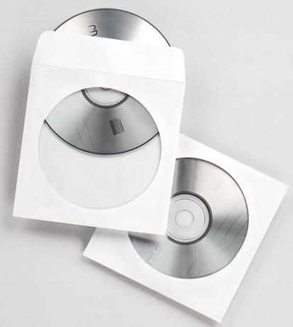 Image of Fellowes CD-/DVD-Papierhüllen, 100 Stück