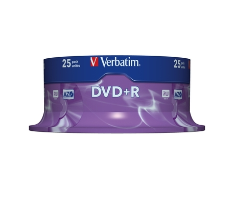 Image of Verbatim DVD+R 4,7GB 16x SP(25)