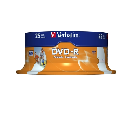 Image of Verbatim DVD-R 4,7 GB 16x Inkjet SP(25)