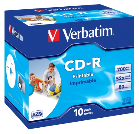 Image of Verbatim CD-R80/700 52x Inkjet JC(10)