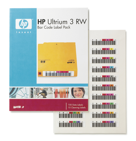 Image of HP Ultrium 3 Barcode Label-Pack (100+10)