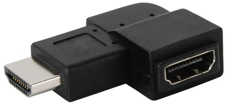 Image of Adapter 90°links HDMI(A) Bu - HDMI(A) St