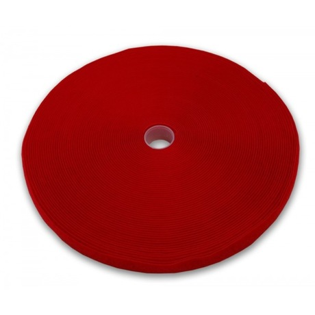Image of Kabelbinder Klett Rolle 25 m x 13 mm Rot