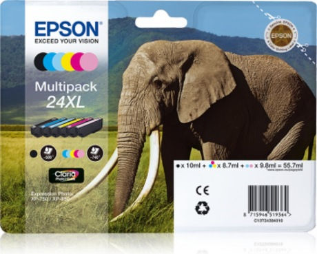 Image of Epson 24XL Claria Tinte Multipack