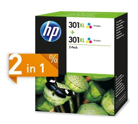 Image of HP 301XL Tinte dreifarbig 2-Pack