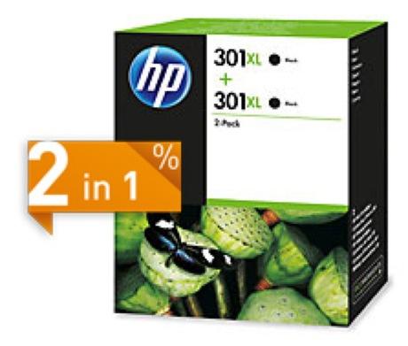Image of HP 301XL Tinte schwarz 2-Pack