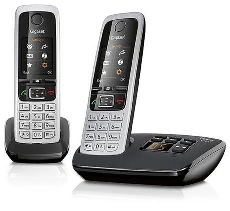 Image of Gigaset C430A Duo Telefon silber/schwarz