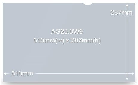 """3M AG23.0W9 58,4 cm (23"""") Blendschutz"""