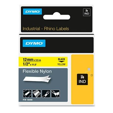 Image of Dymo Rhino Band Nylon gelb 12 mm