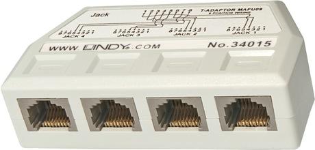 Image of LINDY RJ45 Telefon Line Splitter 1:4
