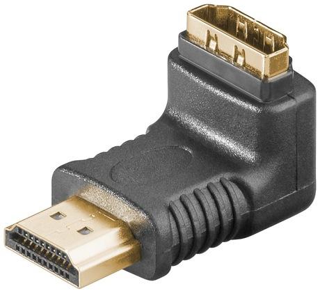 Image of Adapter HDMI m/f 90° Winkel Unten