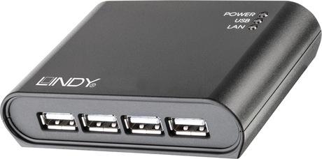 Image of Lindy USB 2.0 Device Server 4 Port