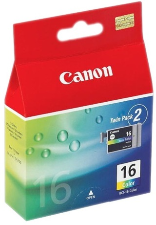 Image of Canon BCI-16 Tinte dreifarbig 2-Pack
