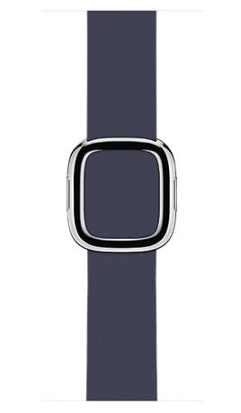 Image of Apple Watch Lederarmband 38 mm dk. blau