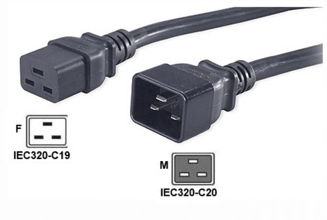 Image of Netzkabel IEC320-C19 to C20, 16/20A - 2m