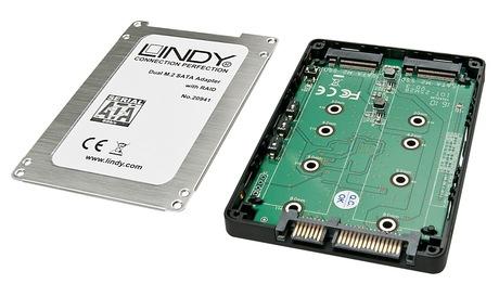 Image of LINDY Dual M.2 SSD - SATA RAID Gehäuse