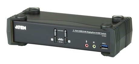 Image of ATEN 2-Port USB 3.0 4K DP KVMP Switch